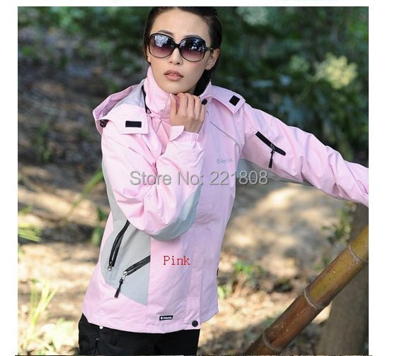 Free Shipping 2015 new brand fashion women's Jackets outdoor sports ski suit warm waterproof two-piece set tops ski wear coat(China (Mainland))