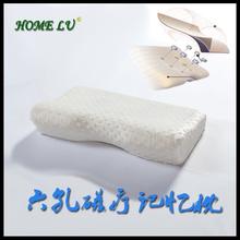 Free shiping riser vent luxury health care new arrival massage breathe head shape memory foam pillow( WN50)(China (Mainland))