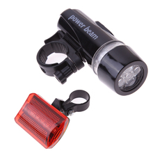 Buy Waterproof Bike Lights 5 LEDs Bicycle Front Head Light+5 LED Cycling Safety Rear Flashlight Torch Tail Light Taillight Rearlight for $2.97 in AliExpress store