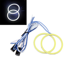 SF 2pcs 60mm Car 12V COB CCFL Halo Rings Angel Eyes DRL Fog Light Head Lamp White Color(China (Mainland))