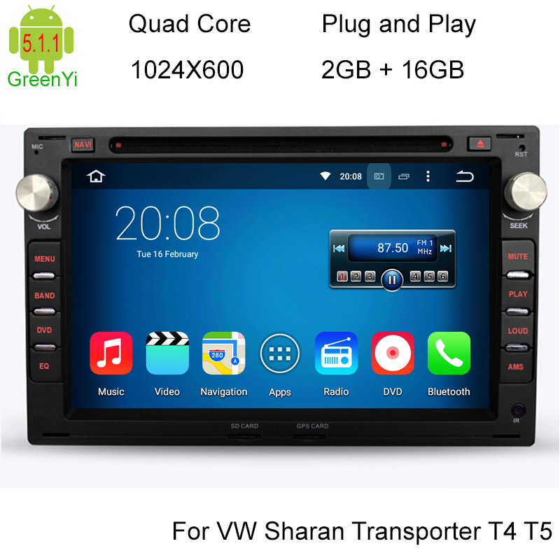 2G/16G Quad Core Android 5.1.1Car DVD Player For VW Passat Golf Seat Alhambra Ibiza Leon Toledo Skoda Superb Octavia Peugeot 307(China (Mainland))