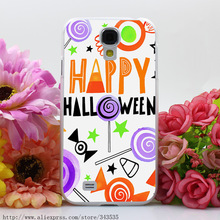 290OP HALLOWEEN_CANDIES_CARD_01 Hard Transparent Cover Case for Galaxy S2 S3 S4 S5 & Mini & S6 S7 Edge Plus(China (Mainland))