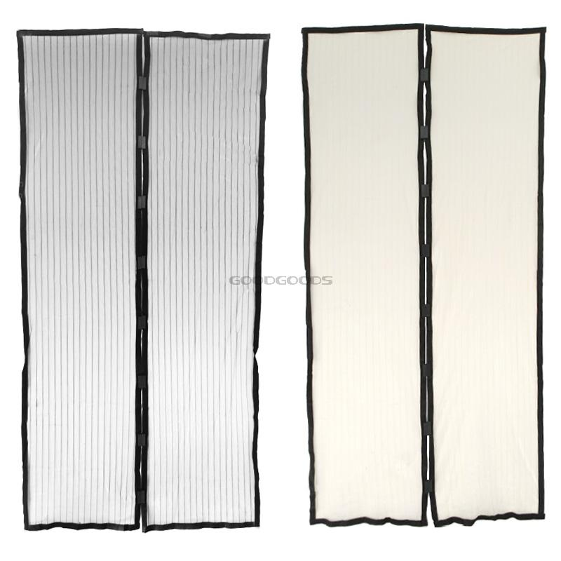 New 2015 210 100cm Hands Free Summer Mosquito Curtain Portiere Screen Door Magnetic Magnet