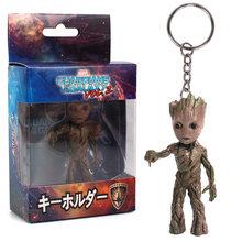 Hasbro Marvel Guardians Of the Galaxy Árvore Homem Groot Gruitt Chaveiro Pingente de Mão Decoração Modelo boneca de Brinquedo(China)