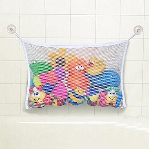 High Quality Baby Bathroom Mesh Bag Child Bath Toy Storage Bag Net Suction Cup Baskets 6DZD(China (Mainland))