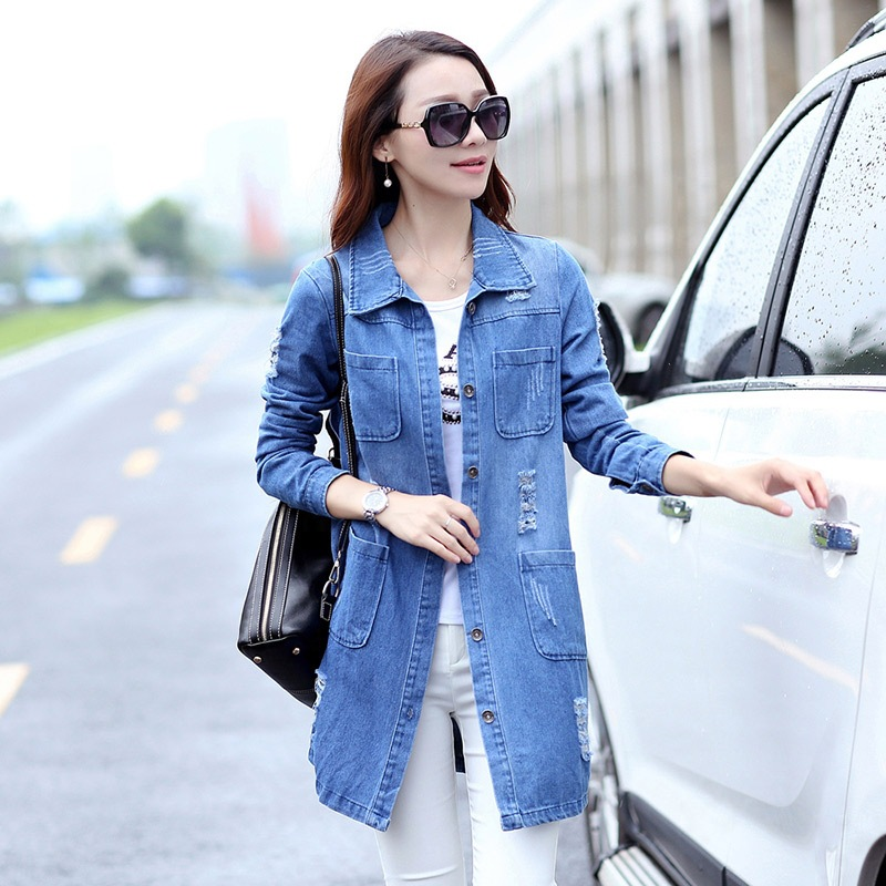 Online Get Cheap Denim Coat Long -Aliexpress.com | Alibaba Group