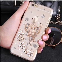 Butterfly For Mobile Phone Sparkly Crystals Rhinestones Bling Floral Gem Cover For iphone 7 6 5 4 6S 6SPlus 7Plus