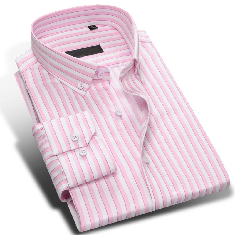 Popular pink and purple striped shirt buy cheap pink and for Mens red and white striped dress shirt