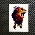 Hot Fashion Indian King Lion Head Designs Flash Tattoo Black Waterproof Tattoo Sticker GB496 Men Body Art Arm Sleeve Tatoo Lions