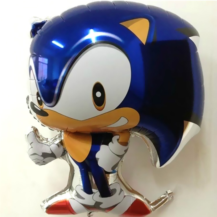 1pc Free Shipping Classic Toys Inflatable Sonic Balloons Party Decorations Mylar Balloons Cartoon Character Helium Balloons(China (Mainland))