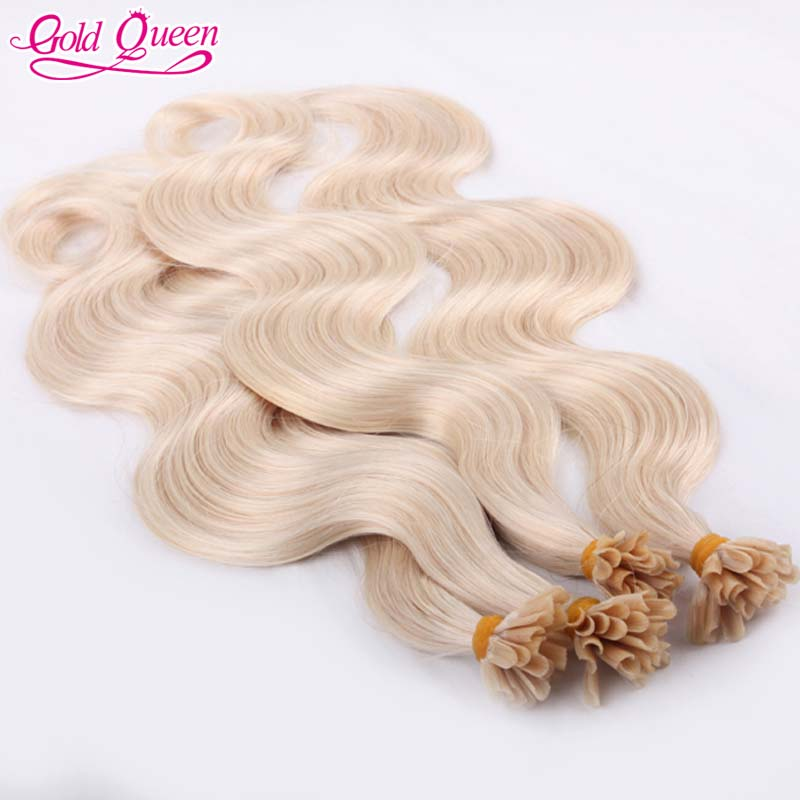 beautiful u tip hair extension 60# blonde peruvian virgin body wave human hair extensions 100g/lot for sale for free shipping<br><br>Aliexpress