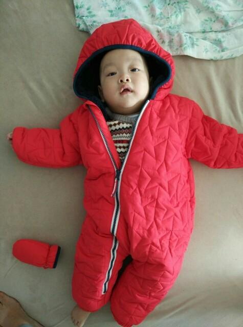 Скидки на Новый 2015 осень зима ползунки детская одежда новорожденных хлопка комбинезон толстый теплый дети верхняя одежда мальчика / девочки комбинезон