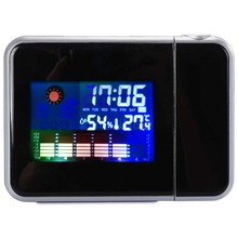 Projection Digital Weather LCD Alarm Clock Color Display w/ LED Backlight AH044(China (Mainland))