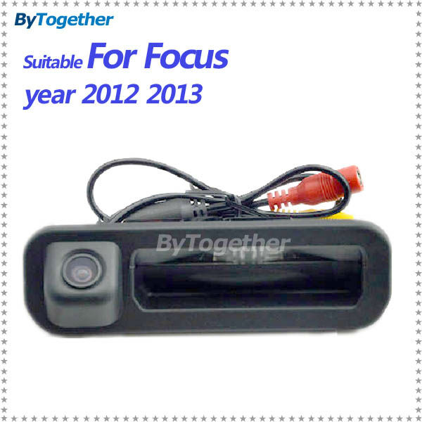 Promotion CCD car trunk handle reverse parking rear camera for Ford focus 2012 2013 both hatchback and sedan for focus 2 focus 3(China (Mainland))
