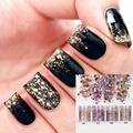 Lace Black Beauty Transferência Foil Nail Sticker Decalques para Unhas Ferramentas Manicure Francês Dicas Wraps DIY Frete Grátis