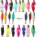 Adogirl vestidos verano 2016 Autumn Dresses Long Sleeve Cotton Woman Sexy Club Night Party Bodycon Dress