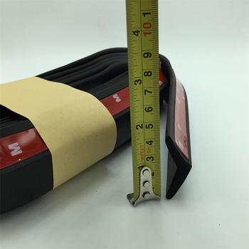 High Quality Universal 2.5M,4.5cm wide front bumper lip spoiler Rubber matt Black Soft Rubber Popular