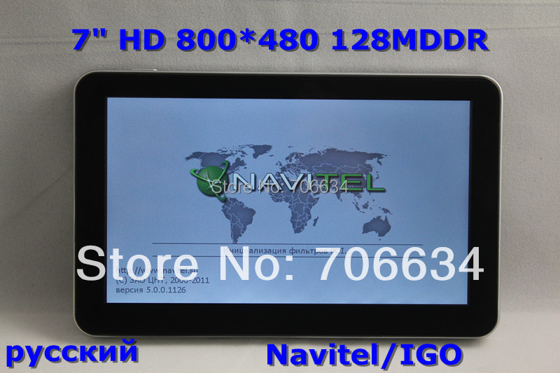 wholesale 7 Inch HD 128MDDR 800MHz car GPS Navigation System with Navitel 8.5 maps Built-in 4GB 2014 Map FM Win CE 6.0(China (Mainland))