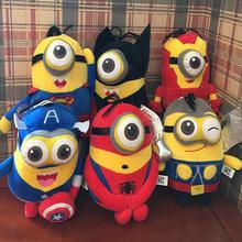 Minions Cosplay The Avengers Super Hero Spiderman & Superman & Batman & Captain America Plush Toys Children(China (Mainland))
