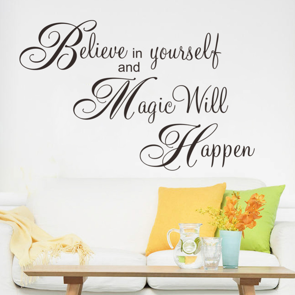 Magic will happen inspiration quote wall sticker decal for Mural inspiration