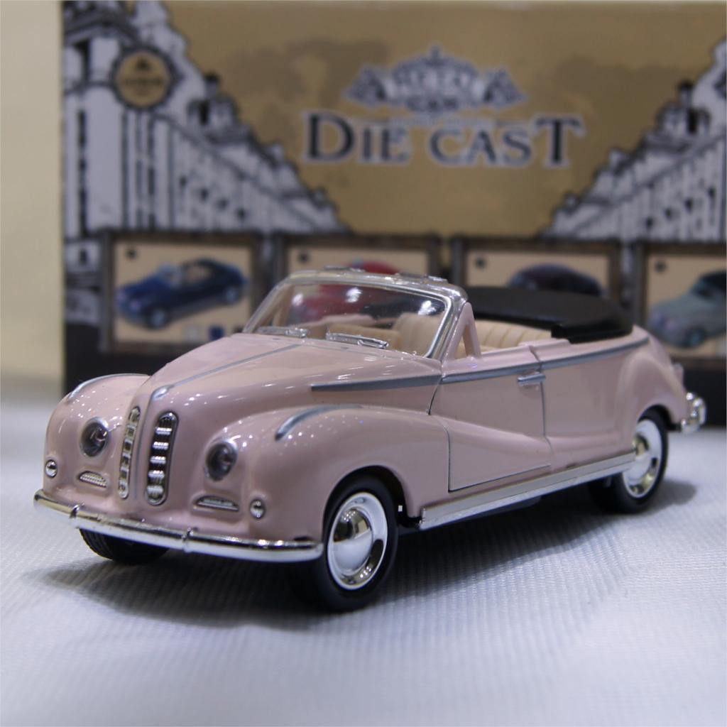1:32 Classic B-M-W 502 Convertible Wecker Vintage Convertible Car Model Alloy Diecast Vehicle Pull Back Car Model Toy #FB(China (Mainland))