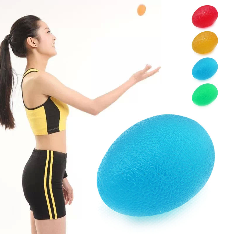 High elastic silica gel Egg Shaped Grip The Ball Textured Fingers Massaging Power Ball Massager 4 Color(China (Mainland))