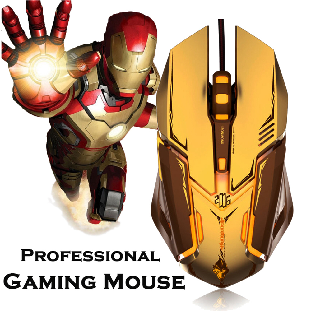 Professional Gaming Mouse 4000 DPI Wired Optical High Precision Programmable Ergonomic Gaming Mouse for PC Computer Gamer(China (Mainland))