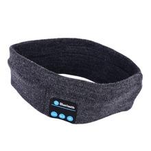 Knitted Wireless Bluetooth Sports Sleeping Headband Headset Headphone Speaker Free Shipping