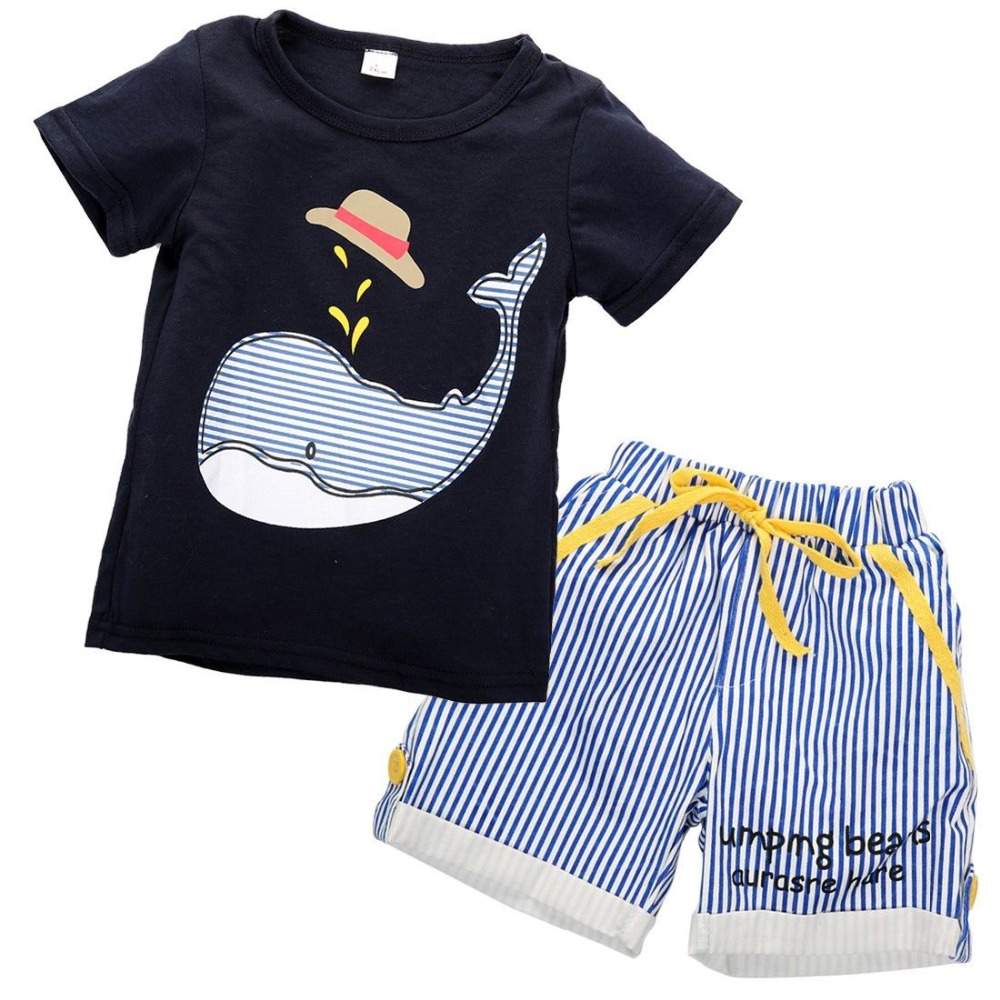 2016 NEW children clothing set stars boys set baby sets short t shirt+pants 2 pcs set clothes kids suit 2-7Years