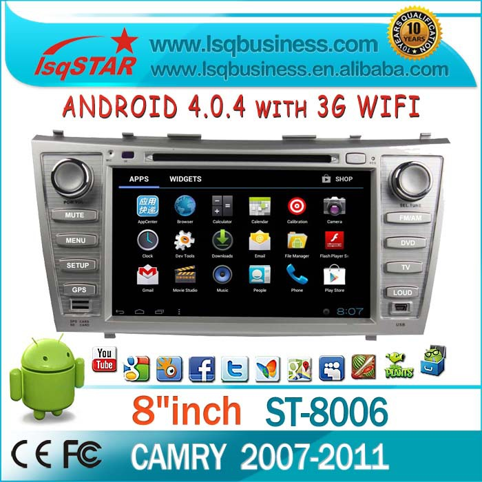 "8""LSQ Star Central Multimedia System Fit Toyota Camry 2007-2011with Gps Navigation +3d Rotating Ui+3g +wifi +pip+dual Zone+swc(China (Mainland))"