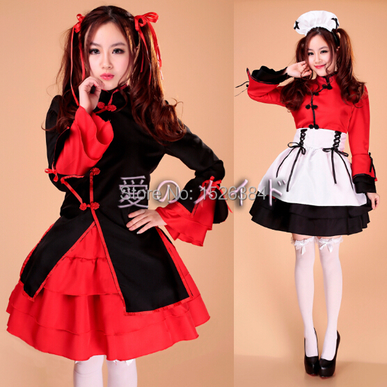 Girls Women Maid Costume Anime Cosplay Costume Halloween Party Dress