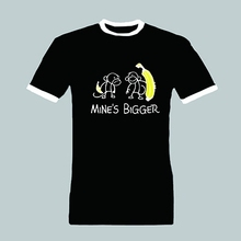 Buy 2016 Mine's Bigger Mine Bigger Perverted Funny T Shirts Summer Hipster Tops Tee Shirt Short Sleeve T-Shirt Homme Plus Size for $15.18 in AliExpress store