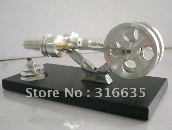 BRAND NEW TWIN FLYWHEELS HOT AIR STIRLING ENGINE 1500 RPM STIRLINGMOTOR NO STEAM/Real wood fine grinding manufacturing(China (Mainland))