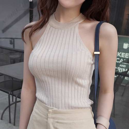 Crop Top Women 2015 Halter Top Cropped Debardeur Femme Knitted Blouses Cotton Vest Womens Off Shoulder Sexy Tops Woman Clothing(China (Mainland))