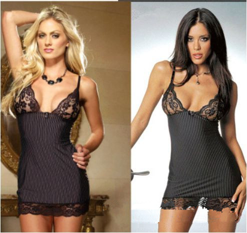 Free shipping HOT Sexy Lingerie Black Lace Sleepwear Clothes Sexy Costumes Women Bathrobe Sexy Underwear Sexy toys(China (Mainland))