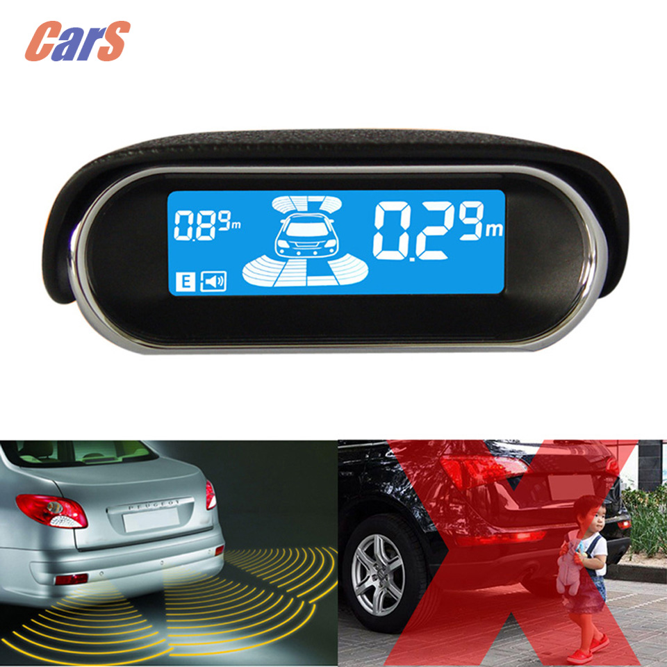 New HIgh Quality Car Parking Sensor Car Radar Electromagnetic Car Parking Tool Assistant for Front Rear Black(China (Mainland))