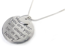 """Free Shipping fashion letter motto charm pendant """"wherever you are you will always be in my heart' snake chain women necklace(China (Mainland))"""