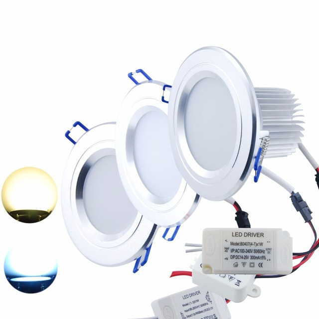 3W 5W 7W LED SMD Recessed Cabinet Ceiling Downlight Light Lamp Frosted Glass New