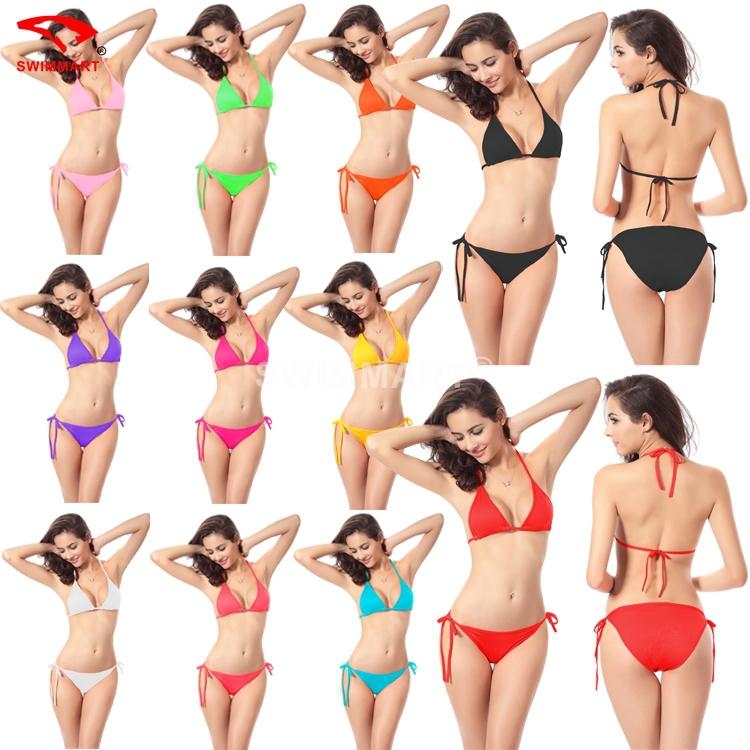 11 Colors Brand Polyester Women Bikinis Set Swimsuit 2015 New Arrive Summer Holiday Fashion Women Sexy Swimwear Bathing Suit(China (Mainland))