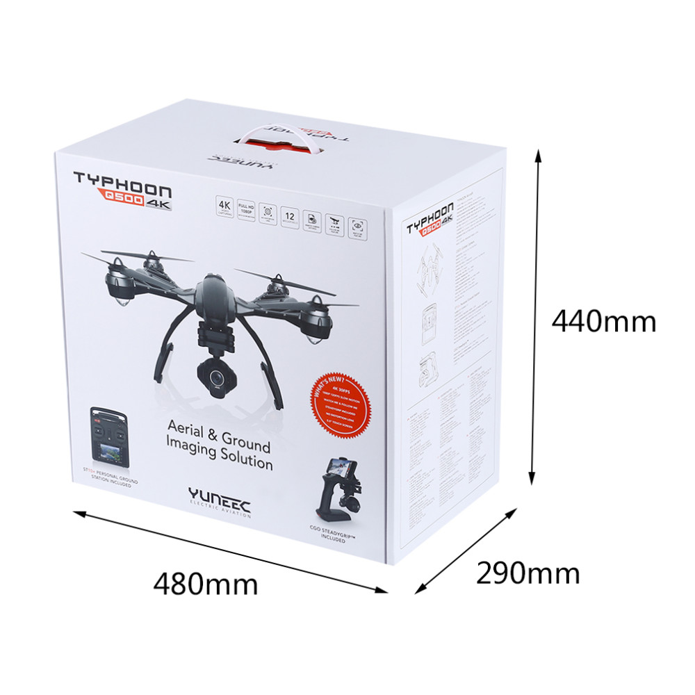 With Carton Box Color-Printed YUNEEC Q500 with 4K HD Camera 10ch FPV drone quadcopter helicopter VS DJI phantom 3 DJI Inspire 1