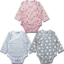 Newborn babies in spring and summer baby clothing for girls and boys long sleeve triangle climb clothes whosale available(China (Mainland))
