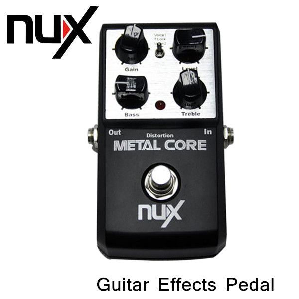2-Band EQ Guitar Effects Pedal Tone Lock Preset Function True Bypass Design NUX Metal Core Distortion Effect Pedal(China (Mainland))