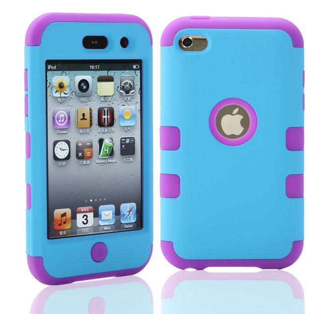 iPod Touch 4 Touch4 4th 4G Hybrid Shockproof Combo Robot 3 1 PC Rubber Case Protective Back Cover Skin+Screen protector - Shenzhen GenaTX Technology Co., LTD store