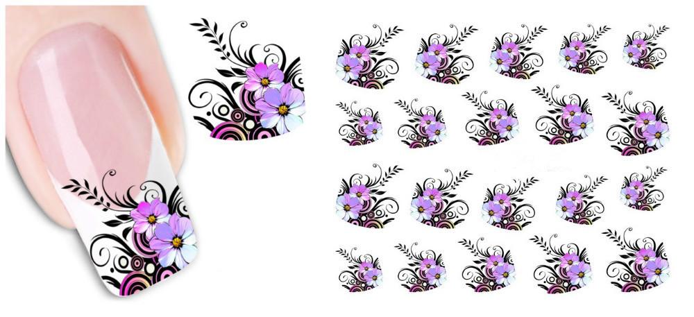 Гаджет  1 Sheet New Arrival Water Transfer nail sticker Decal Beauty Black Swan&Feather water nail sticker beautiful transfer None Красота и здоровье