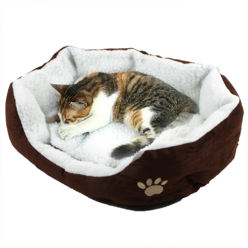 Dog Puppy Cat Soft Warming Bed Fleece Warm House Kennel Plush Mat Warm Winter Nest for Pet Products 4 Colors Casa(China (Mainland))