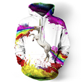 2016 hot Stylish Men and women long sleeve coat Horse systemic 3D digital printing hooded Highly