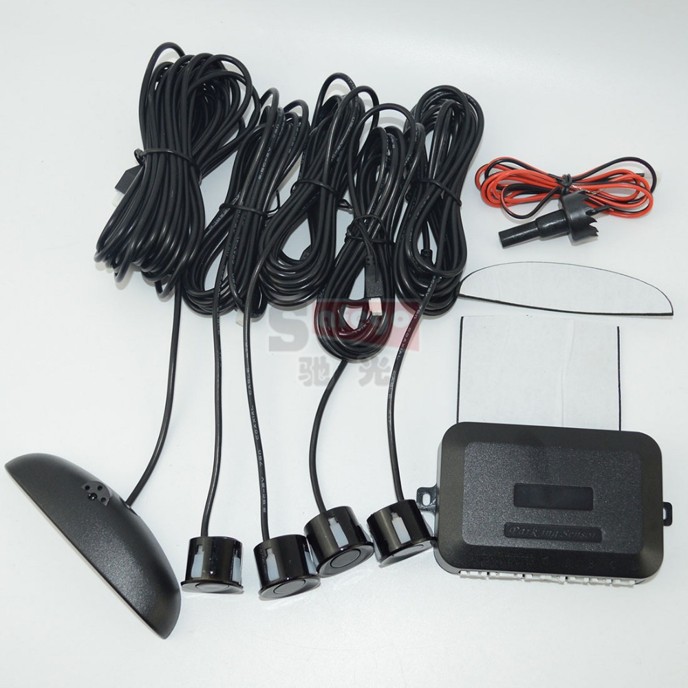 1 set Car Numeral Color LED Display Parking Reverse Backup Radar System 4 Sensors 6 colors High Quality! - Guangzhou Durable Auto Electronic Technology Co.,Ltd store