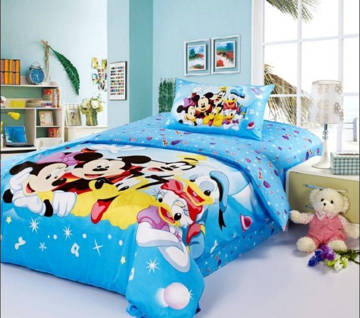 cartoon mouse print children bedding set twin full queen
