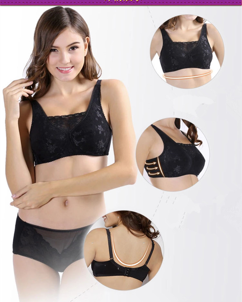 Size 34 36 38 40 42 Breast form bra mastectomy bra designed with pocket bra for silicone breast prosthesis(China (Mainland))
