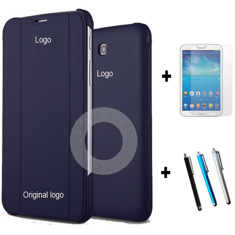 Tab3 облегченная T110 чехол новый роскошный искусственная кожа стенд флип чехол для Samsung галактики Tab3 облегченная 7